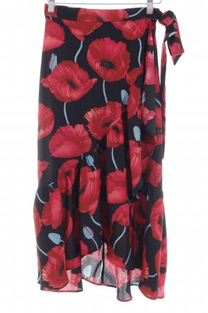 H&M Wraparound Skirt flower pattern casual look