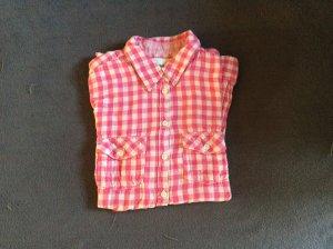 H&M Blusa de manga larga blanco-rosa Algodón