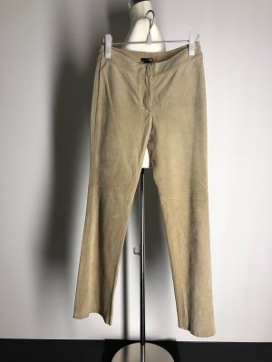 H&M Leather Trousers sand brown suede