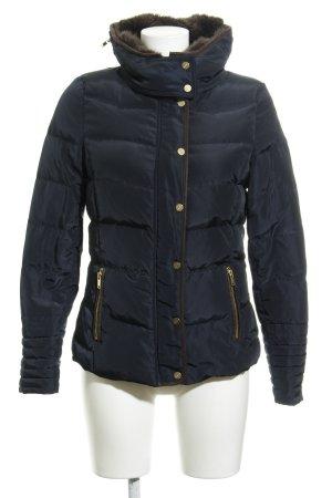 H&M Winterjacke dunkelblau Steppmuster Casual-Look