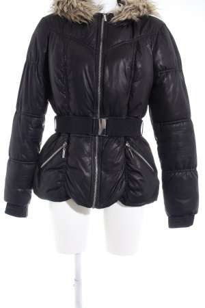 H&M Winterjacke schwarz Steppmuster Casual-Look