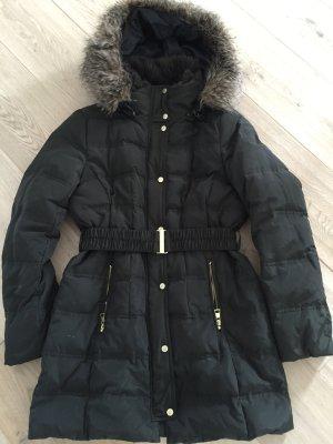 H&M Wintermantel Jacke dunkelgrün Gr. 36 S goldene Knöpfe