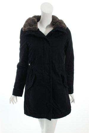 H&M Wintermantel schwarz Casual-Look