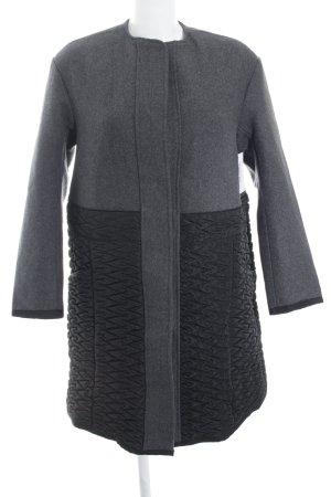 H&M Wintermantel schwarz-grau klassischer Stil