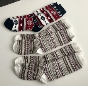 H&M Wintersocken, dicke Socken, Stricksocken, Norwegersocken, Damensocken