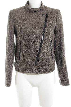 H&M Blazer en laine brun-noir moucheté style décontracté