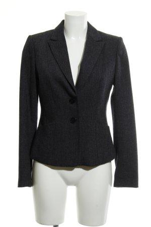 H&M Blazer in lana blu scuro-grigio chiaro puntinato stile professionale