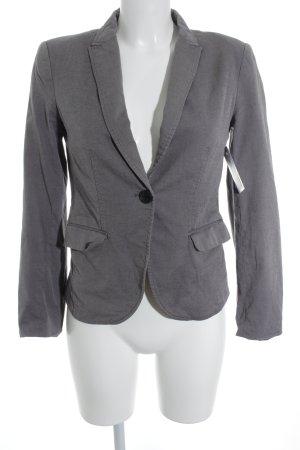 H&M Woll-Blazer grau meliert Casual-Look