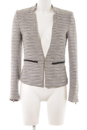 H&M Blazer in lana bianco sporco-nero motivo a righe stile classico