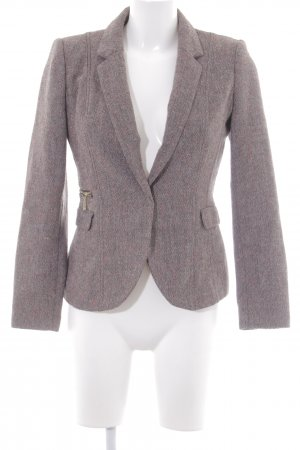 H&M Wool Blazer zigzag pattern business style