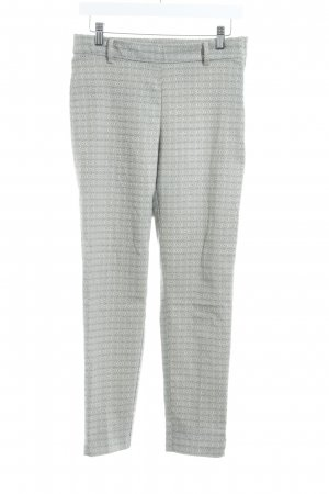 H&M Woolen Trousers cream-black abstract pattern business style