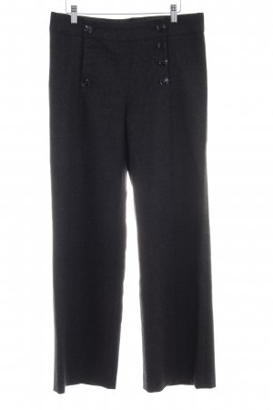 H&M Wollen broek zwart gestippeld zakelijke stijl