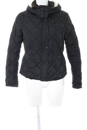 H&M Wolljacke schwarz Steppmuster Casual-Look