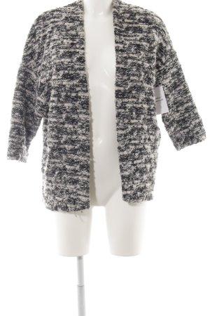 H&M Wolljacke schwarz-weiß Casual-Look