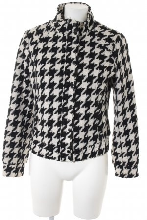 H&M Wollen Jack wolwit-zwart abstract patroon casual uitstraling