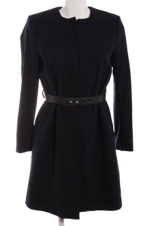 H&M Wollen jas donkerblauw Gemengd weefsel