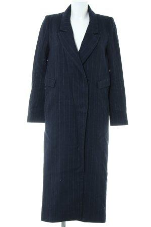 H&M Wollmantel dunkelblau-grau Nadelstreifen klassischer Stil