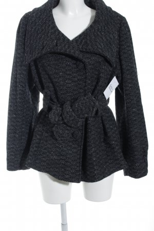 H&M Wollmantel dunkelgrau-schwarz Webmuster klassischer Stil