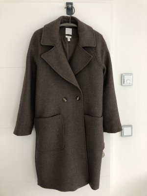 H&M Oversized Coat brown-taupe wool