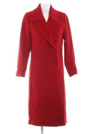 H&M Abrigo de lana rojo estilo sencillo