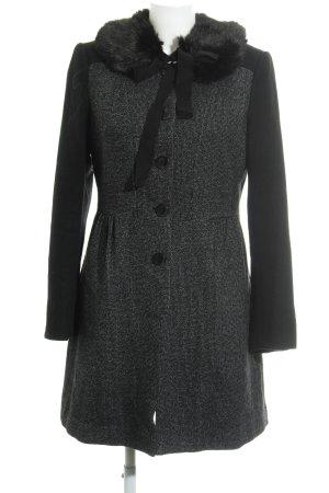 H&M Wool Coat black-natural white flecked elegant