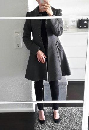H&M Wollmantel Wintermantel Mantel Wolle Gr. S 36 grau tailliert mädchenhaft
