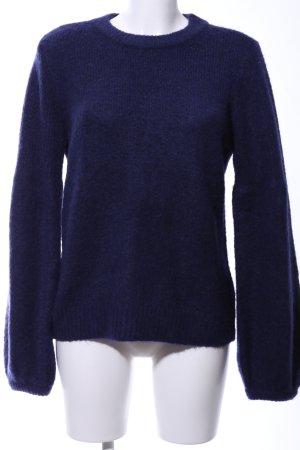 H&M Jersey de lana azul moteado look casual