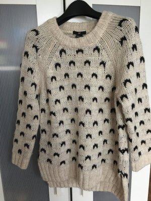 H&M Maglione di lana bianco-nero