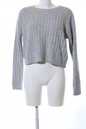 H&M Wool Sweater light grey flecked business style