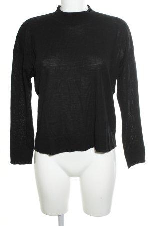 H&M Jersey de lana negro look casual