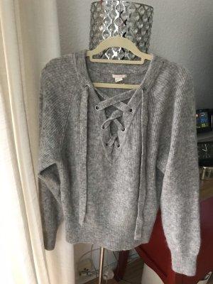 H&M Pull en laine gris clair-gris