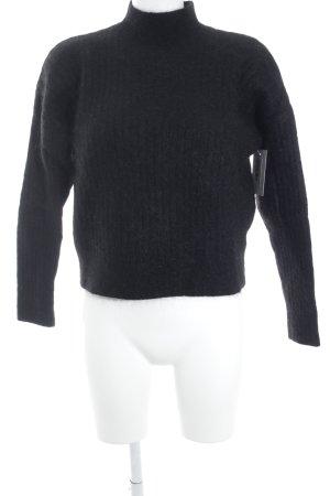 H&M Jersey de lana negro mullido