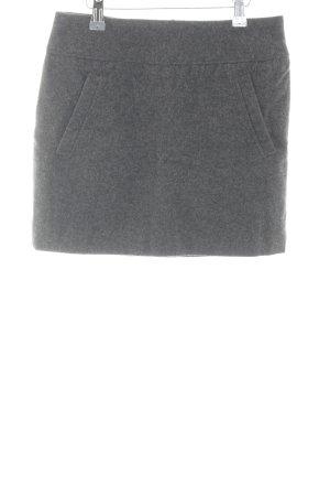 H&M Wollen rok lichtgrijs gestippeld zakelijke stijl