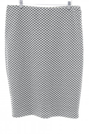 H&M Wollen rok zwart-wolwit zigzag patroon casual uitstraling