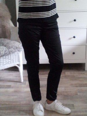 H&M Woman festlich glänzende Hose schwarz Größe42