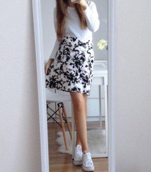 H&M Woman Sommer Blumen Rock Highwaist L 40 TOP Blumenprint Blumenmuster Blogger