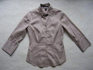 H&M wunderschoene bluse business buero neu gr. 34 xs beige karriert