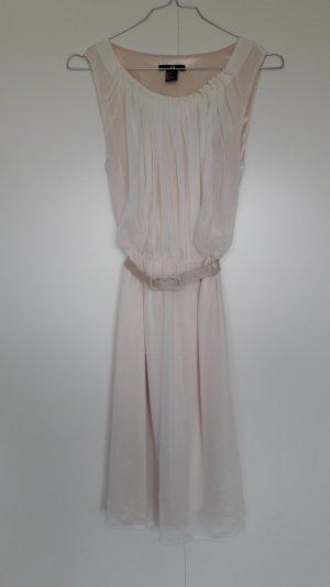 H&M wunderschönes zartes Kleid creme lachs mit Gürtel Gr. 34