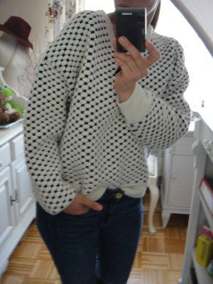 H&M Pull à gosses mailles noir-blanc