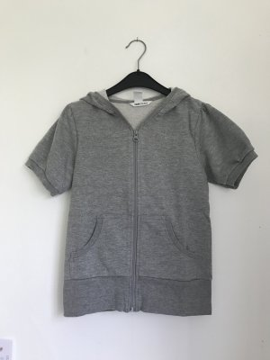 H&M Short Sleeve Sweater silver-colored-grey
