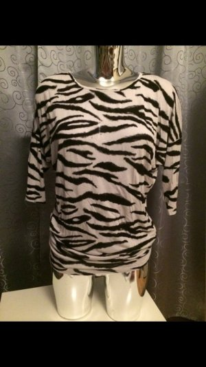 H&M Zebra Shirt Longshirt Sweatshirt Minikleid Tunika Animal Gr. S