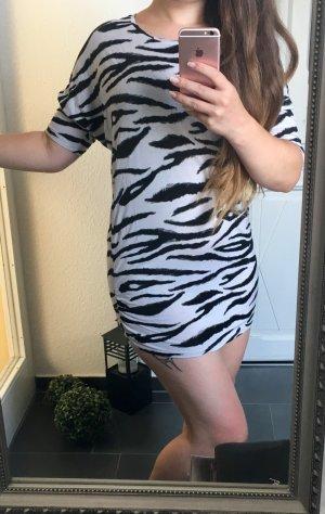 H&M Zebra Shirt Longshirt Sweatshirt Minikleid Tunika Animal Gr. S