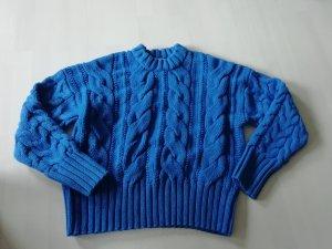 H&M Pull torsadé bleu acier
