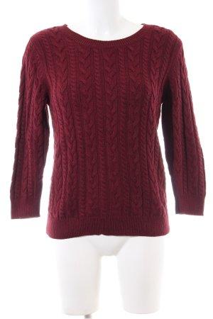 H&M Pull torsadé rouge torsades style décontracté