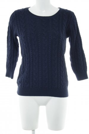 H&M Cable Sweater blue cable stitch casual look