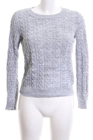 H&M Pull torsadé gris clair torsades style d'affaires