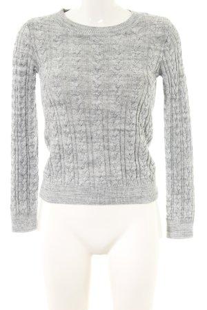 H&M Pull torsadé gris clair moucheté style décontracté