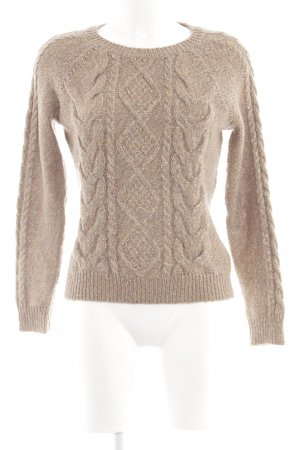 H&M Cable Sweater natural white cable stitch casual look