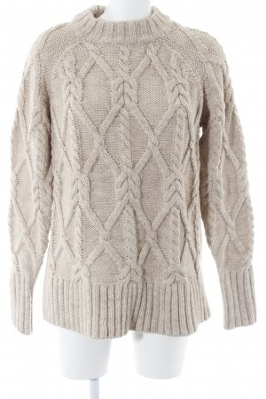 H&M Cable Sweater beige cable stitch casual look