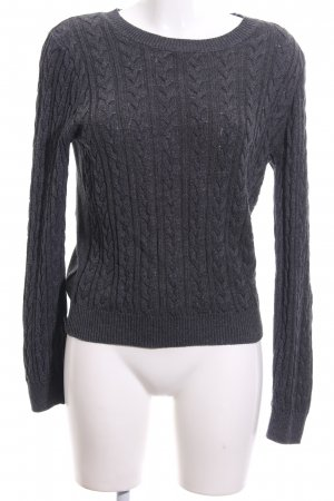 H&M Cable Sweater light grey flecked casual look